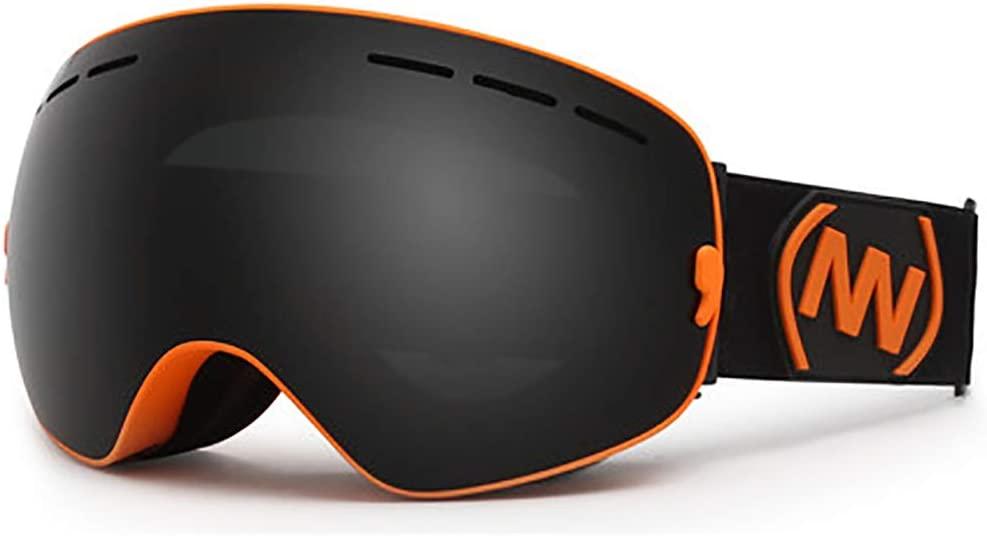 QLMY OTG Dual Layers Lens Ski Goggles Anti Glare 400 Uv Protection Anti Glare Anti Fog Snowboard Goggles Lnterchangeable Lens Man Woman Helmet Compatible