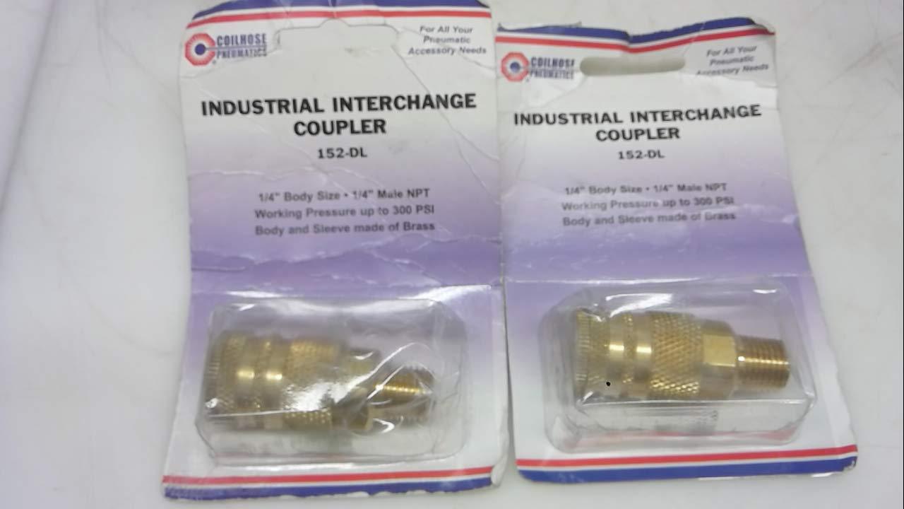 Coilhose Pneumatics 152-Dl - Pack of 2 - Industrial Coupler, 1/4