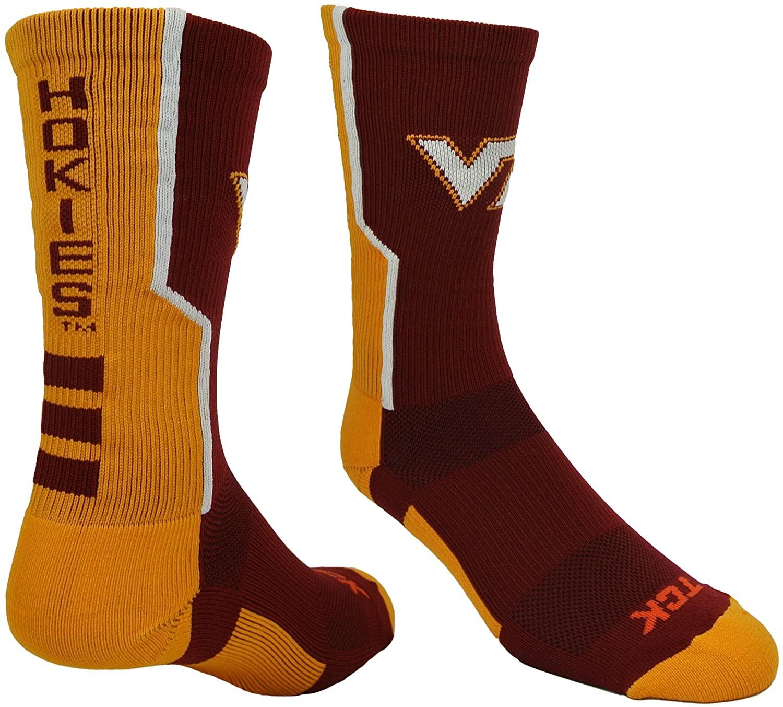 TCK Virginia Tech Hokies Socks Perimeter Crew