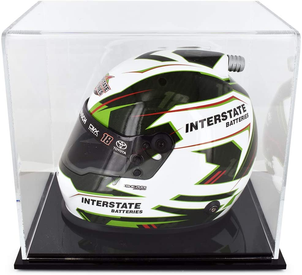 BrandArt Kyle Busch Collectible #18 Interstate 200th Win Replica Mini Helmet with Display Case Included