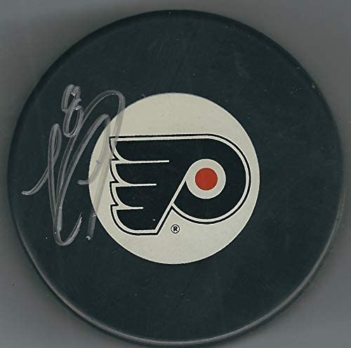 Autographed Nicklas Grossman Philadelphia Flyers Hockey Puck with COA