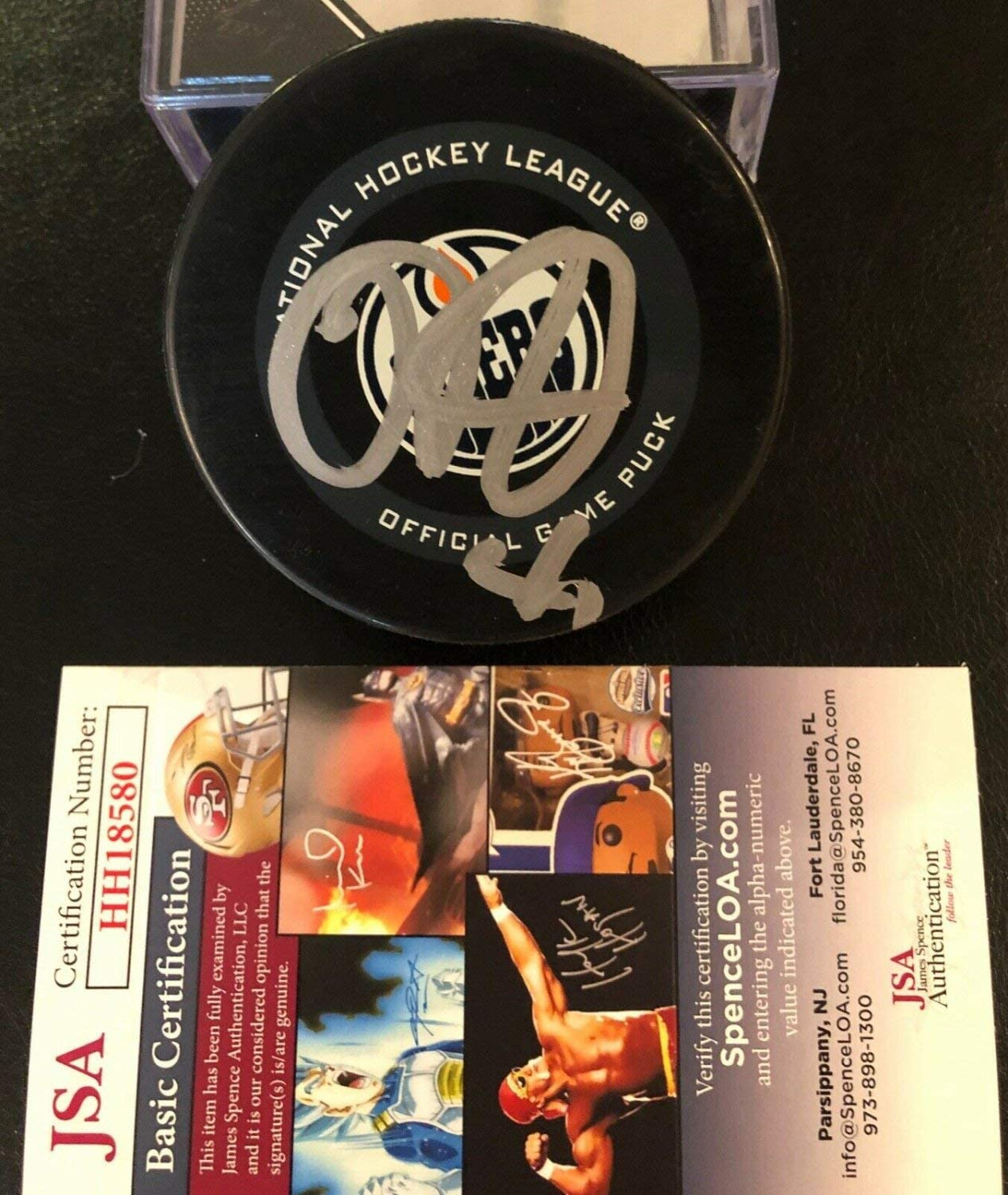 Mike Smith Autographed Signed Edmonton Oilers Official Game Puck Signed JSA