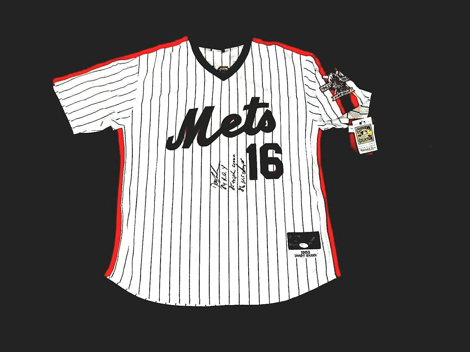 Dwight Gooden Autographed Jersey - Doc 86 Wsc 84 Roy 85tc Mitchell & Ness - JSA Certified - Autographed MLB Jerseys