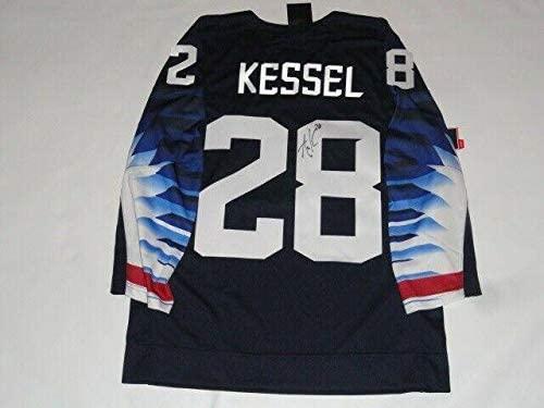 Amanda Kessel Signed 2018 Olympics Team Usa Hockey Jersey Pyeongchang Coa 1 - JSA Certified - Autographed Olympic Jerseys