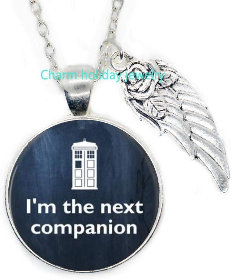 Jewelry-Glass Pendant Necklace-Im The Next Companion-Quote Necklace,Motivational Wisdom Pendant,Inspirational Jewelry-#295