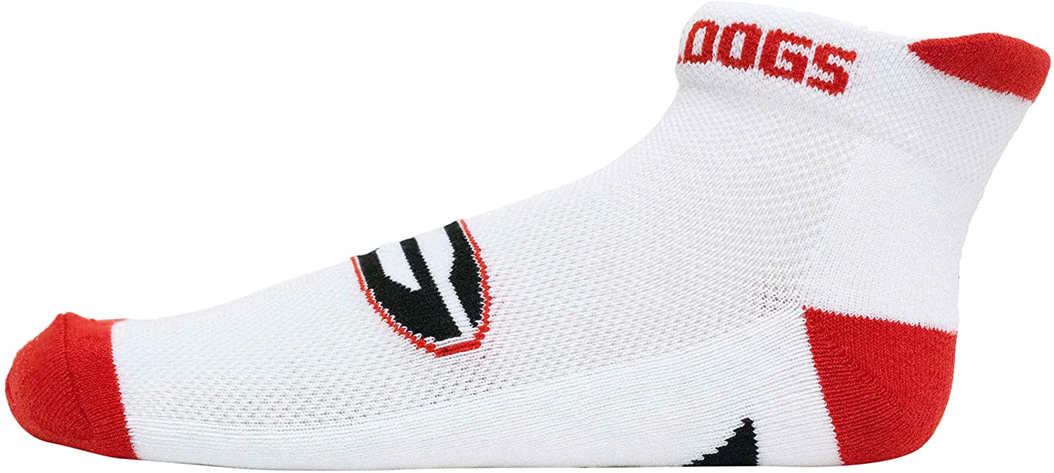 Donegal Bay Georgia White Footie Sock,One Size,Red