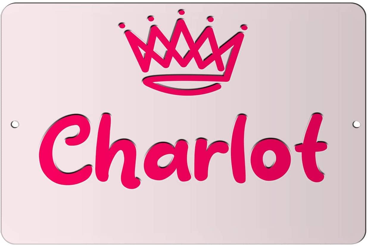 Makoroni - Charlot Girl Female Name 12x18 inc Aluminum Decorative Wall Street Sign