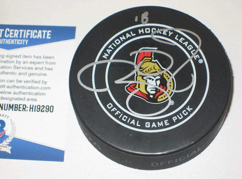 Ryan Dzingel Autographed Puck - Official w Beckett COA - Beckett Authentication - Autographed NHL Pucks