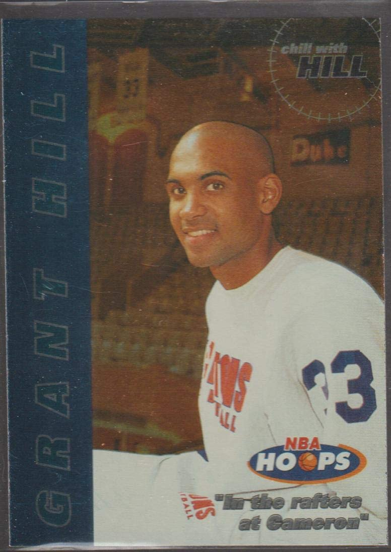 1997 NBA Hoops Grant Hill PistonsChill with Hill Basketball Card #7 of 10