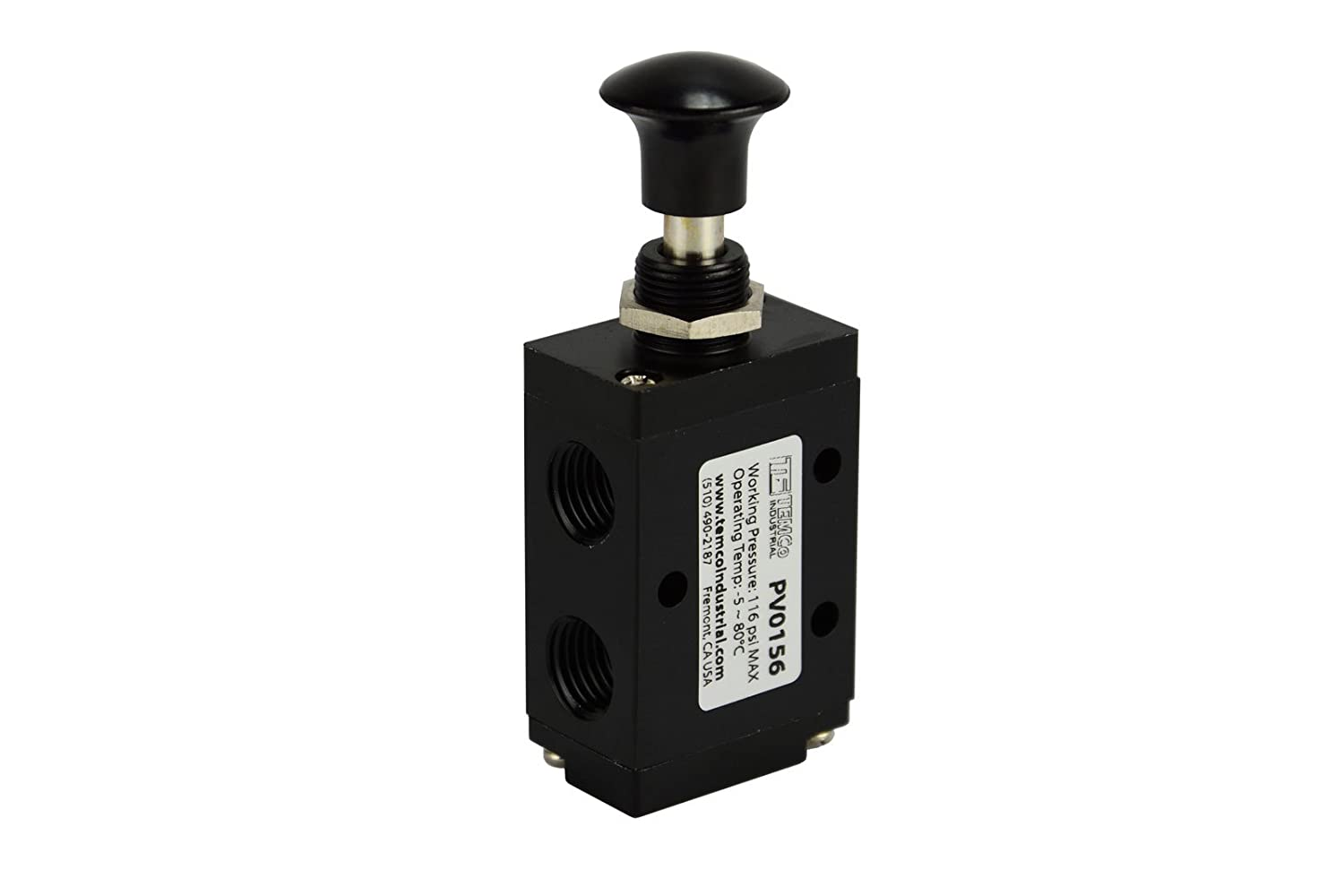 Hand Push Pull Button Pneumatic Air Control Valve 3 Port 3 Way 2 Position 1/4