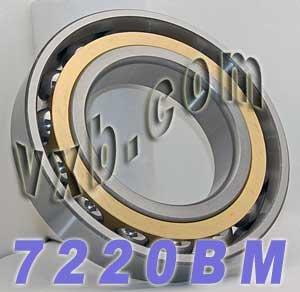 7220BM Angular Contact Bearing Bronze Cage 100x180x34 Large Ball