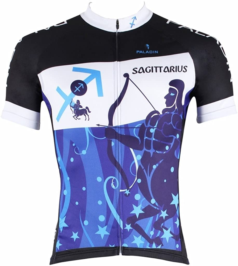 PaladinSport Men's 12 Constellation Short Sleeve Quick Dry Cycling Jersey Top