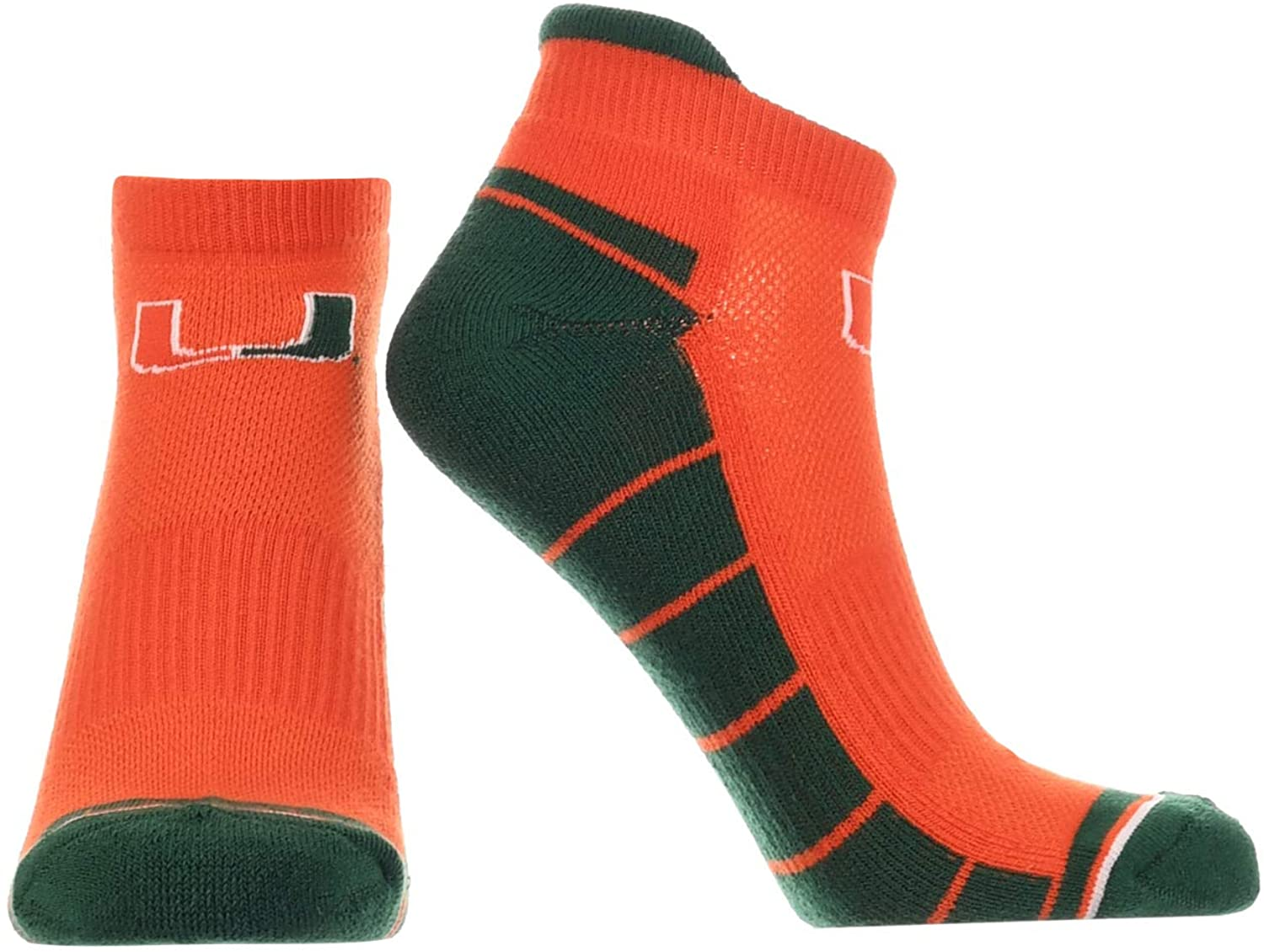 Miami Hurricanes Low Cut Ankle Socks with Tab