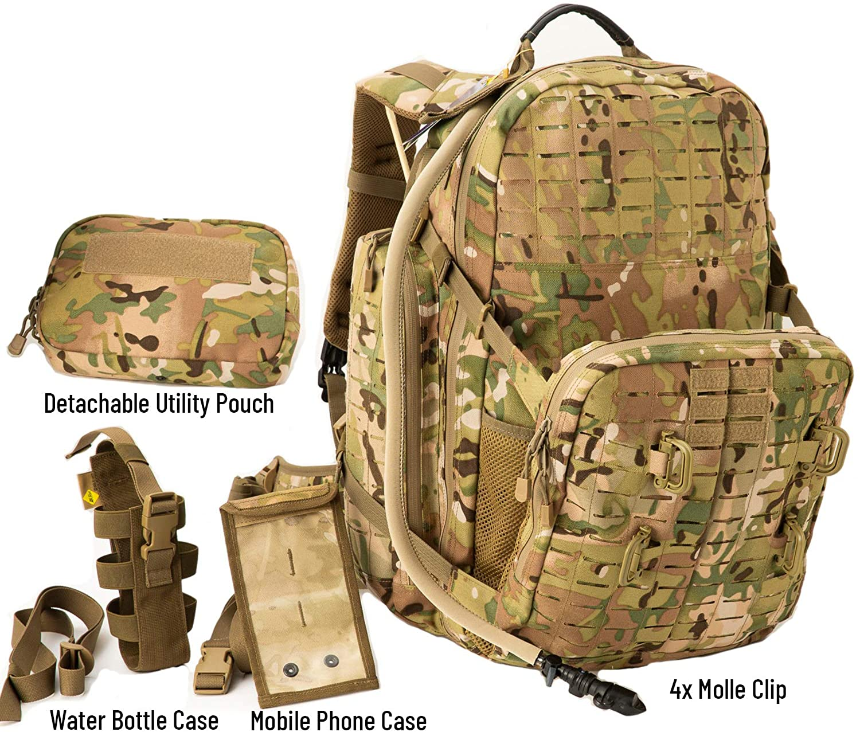 MT Tactical Pack,72 Hours Molle Rucksack,Adventure Backpack,Bug Out Bag 55L Large