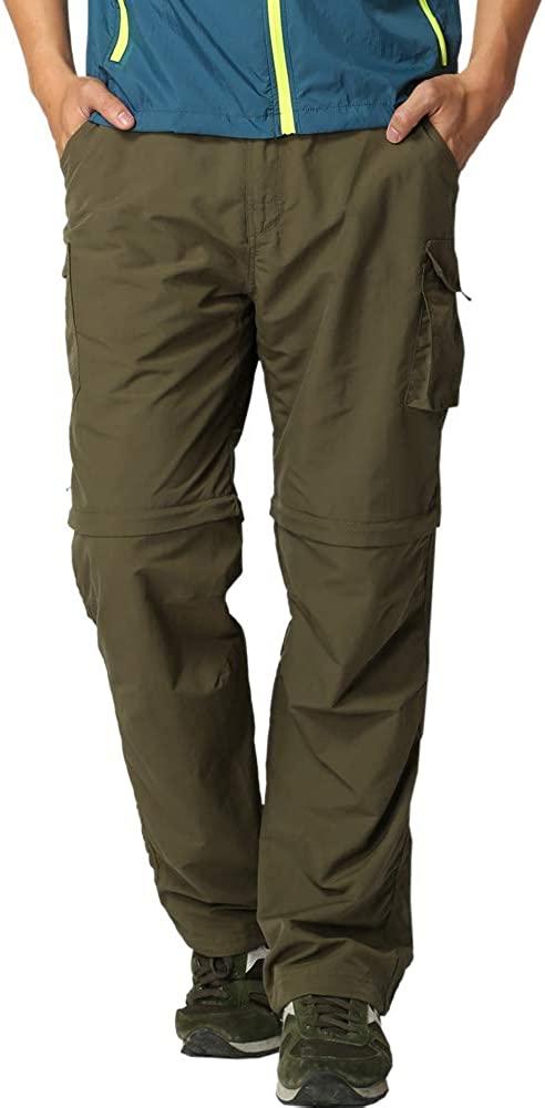 LEOKKARR Pants for Men Outdoor Hiking Quick-Dry, Convert Lightweight UV 50+ Fishing Travel Camping Pants