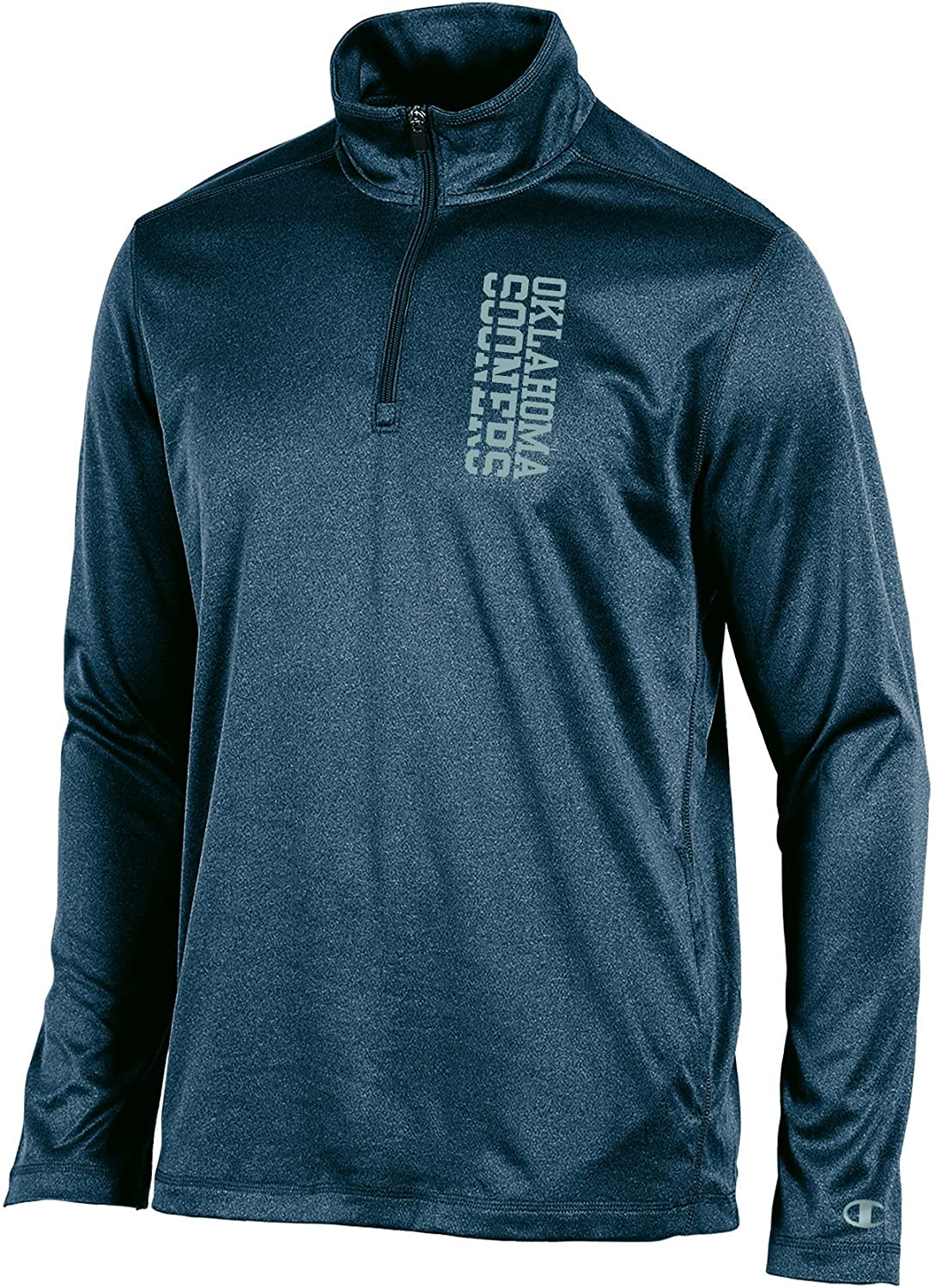 Champion Adult Men NCAA Stealth Quarter Zip Pullover, Charcoal Heather, X-Large
