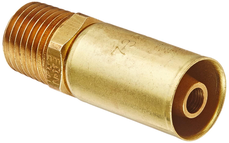 Eaton Weatherhead Coll-O-Crimp 26504P-104 Male Pipe Rigid Fitting, CA360 Brass, 1/4