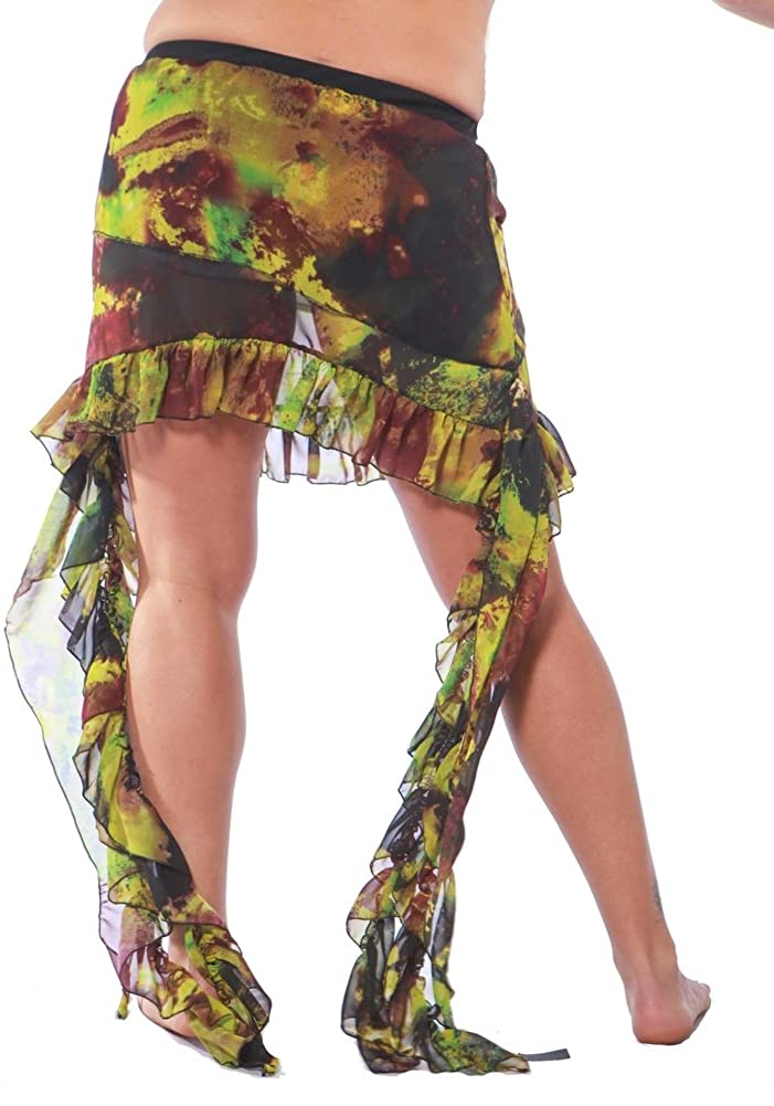 Miss Belly Dance Multi Pattern Bellydancer Chiffon Skirt with Ties