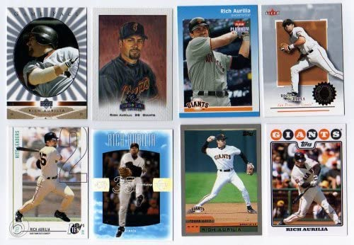 Lot of 16 Different Rich Aurilia Baseball Cards