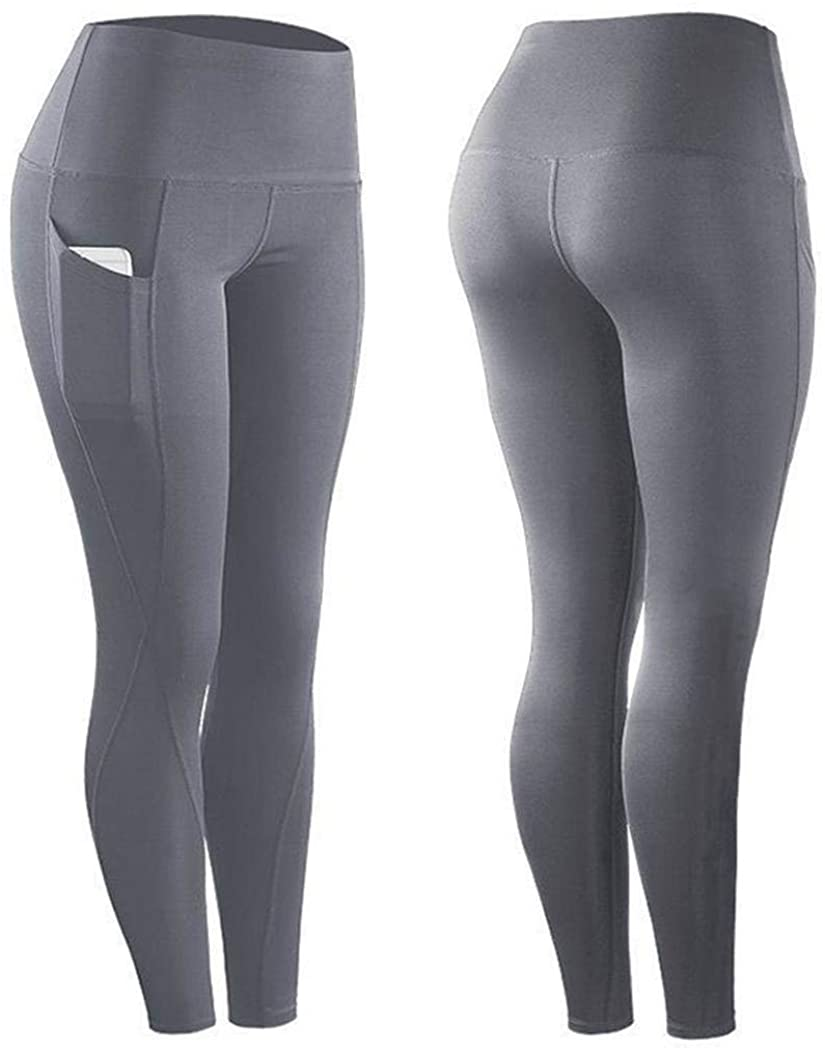 xuprie Women Casual Solid Elastic Waist Ankle Length Yoga Pants Pants