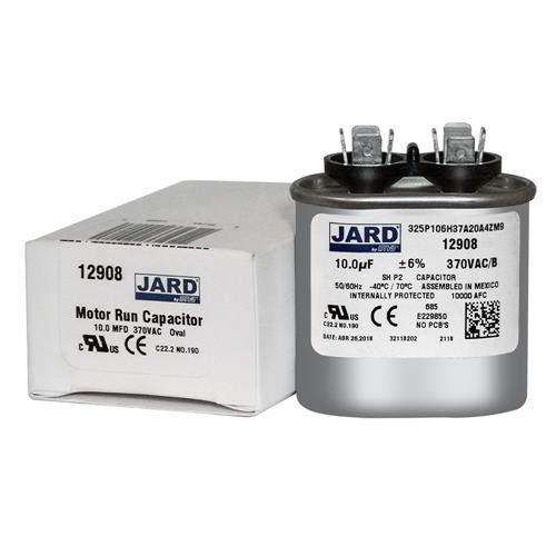 10 uF x 370 VAC Oval Run Capacitor by JARD # 12908