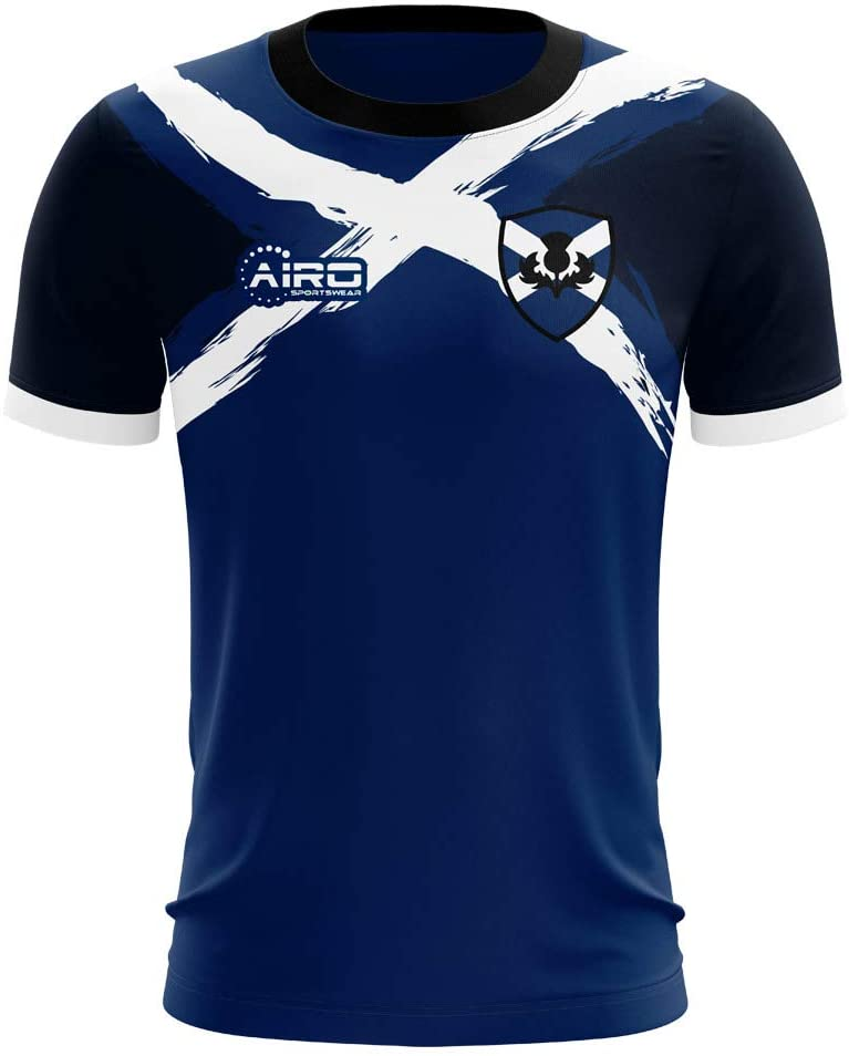 Airosportswear 2020-2021 Scotland Flag Concept Football Soccer T-Shirt Jersey