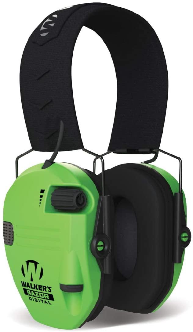 Walkers Game Ear Razor Slim Digital Electronic Muff - Hi-Viz Green, One Size