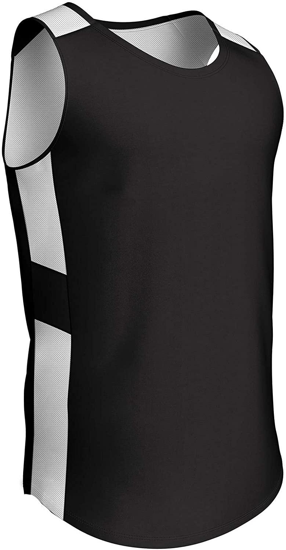 CHAMPRO Crossover Reversible Basketball Jersey, Men's X-Large, Black, White