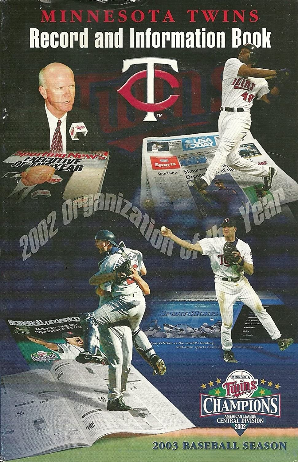 MINNESOTA TWINS MLB BASEBALL 2003 MEDIA GUIDE VINTAGE GREAT COLOR AUTHENTIC