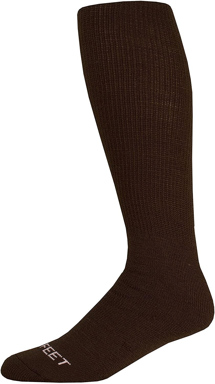 Pro Feet Multi-Sport Cushioned Acrylic Tube Socks, Brown, Large/Size 10-13