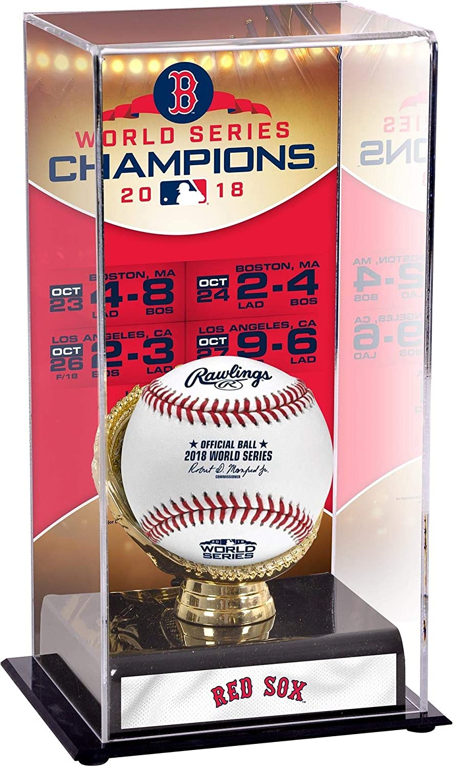 Sports Memorabilia Boston Red Sox 2018 MLB World Series Champions Sublimated Display Case with Image - Baseball Other Display Cases