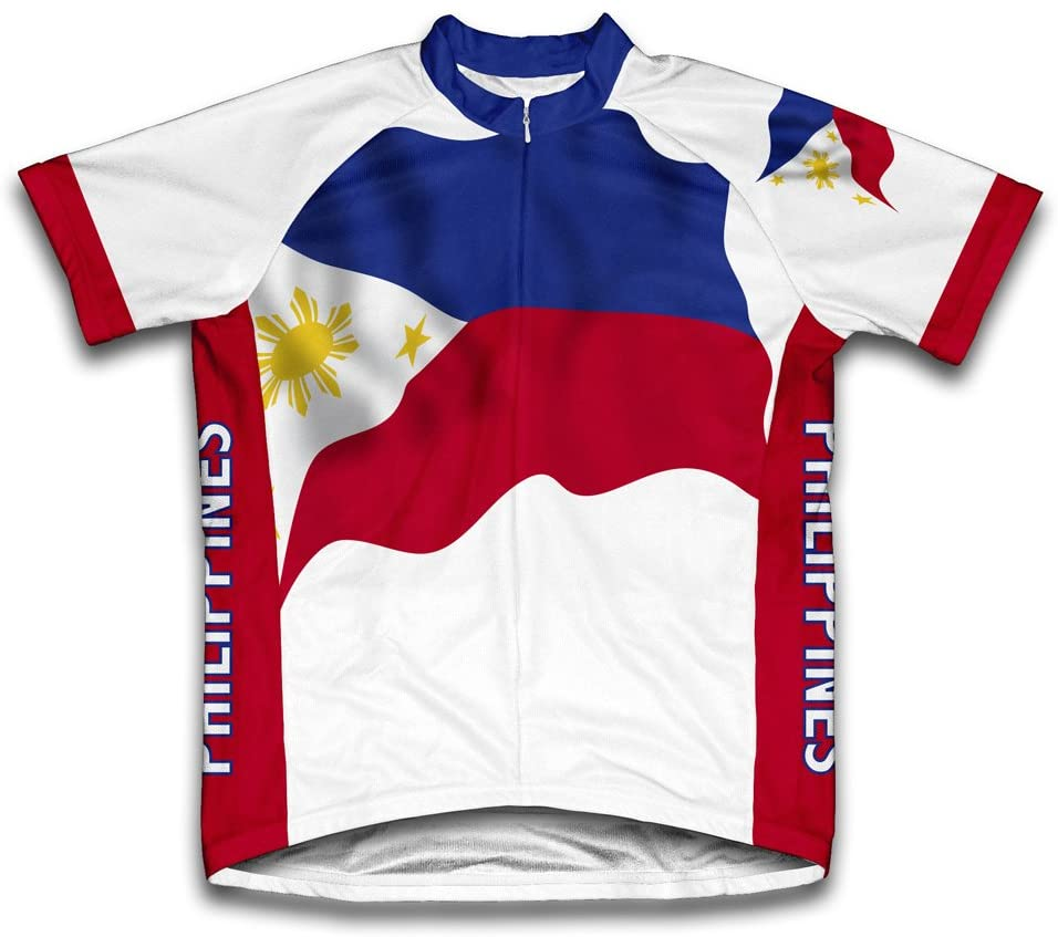 ScudoPro Philippines Flag Short Sleeve Cycling Jersey for Women
