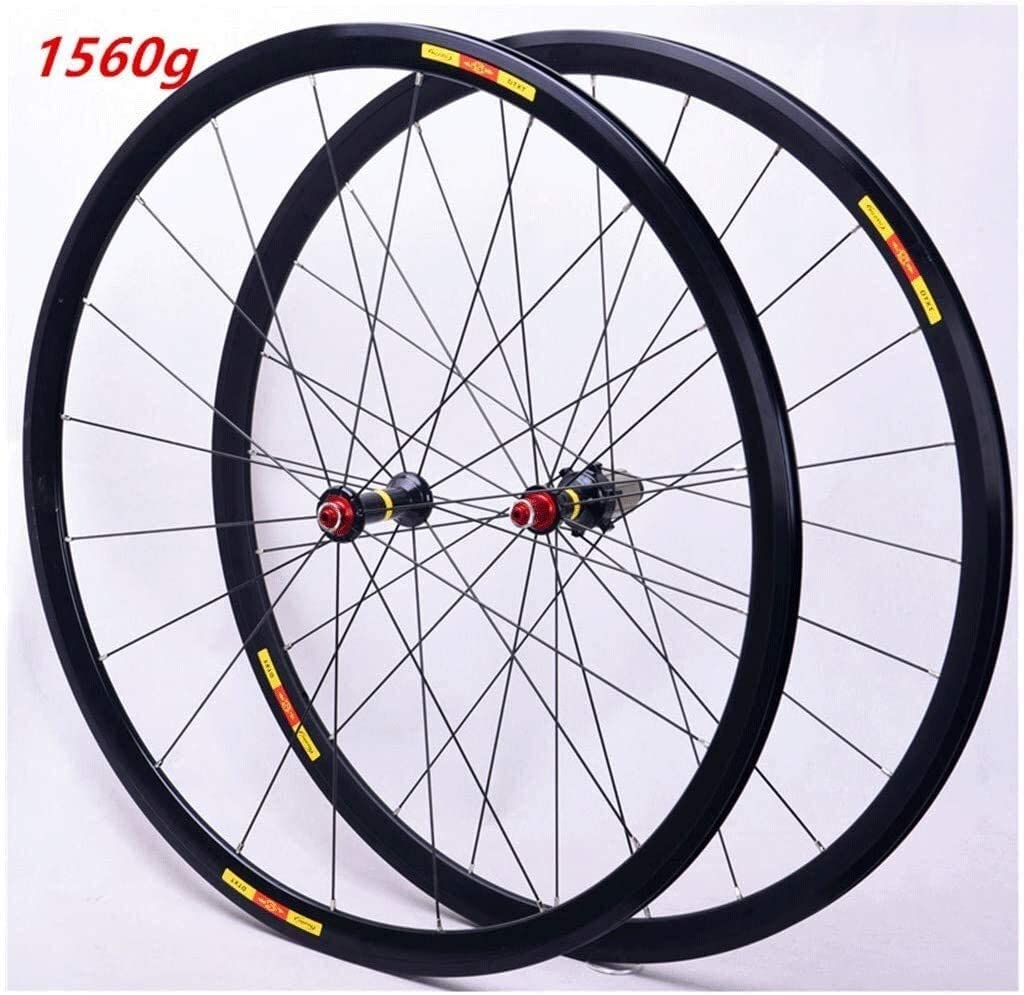 BZLLW Bike Wheel,Mountain Bike Rims Front/Rear Wheel,Road Bike Wheelset 700C Rim Brake Bicycle Wheel Double Wall Alloy Rim QR 8-11Speed Sealed Bearing