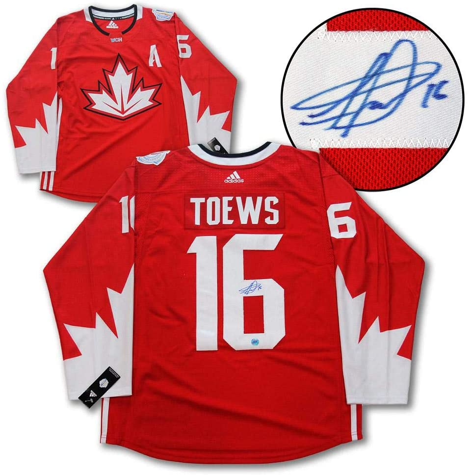Autographed Jonathan Toews Jersey - Team Canada Adidas World Cup of - Autographed NHL Jerseys