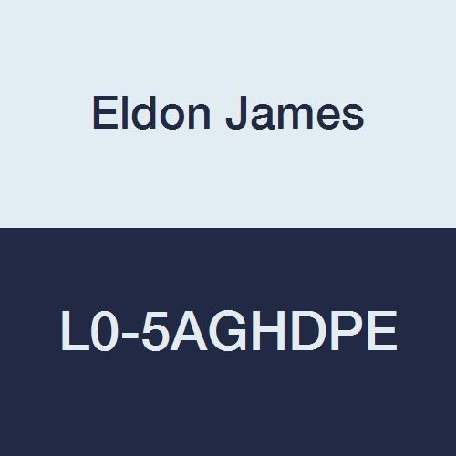 Eldon James L0-5AGHDPE Antimicrobial High Density Polyethylene Equal 90 Degree Elbow, 5/16