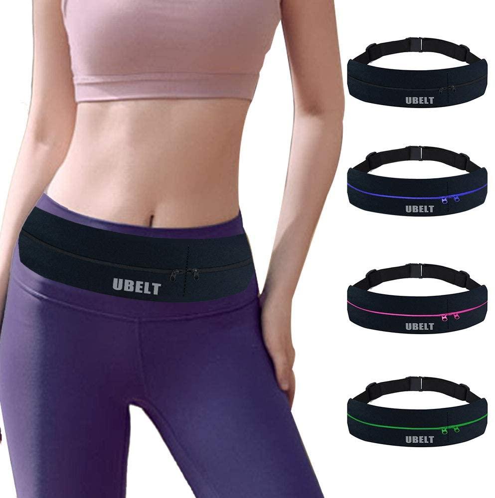 UBELT Running Belt Phone Holder Waist Pack for Hiking Travel Walking Fitness Jogging Gym for iPhone 11 Xr Xs Max 8Plus Galaxy S10 Edge Men Women