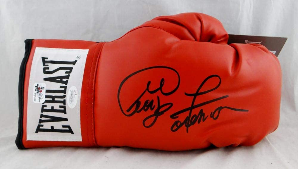 George Foreman Autographed Red Everlast Boxing Glove - JSA W Auth/Holo