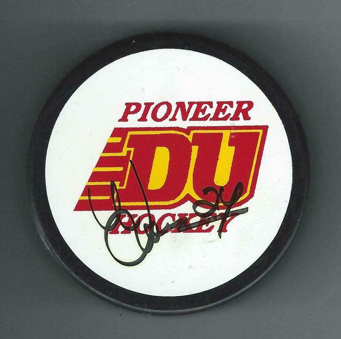 Antti Laaksonen Autographed Puck - Denver Pioneers Souvenir Wild - Autographed NHL Pucks
