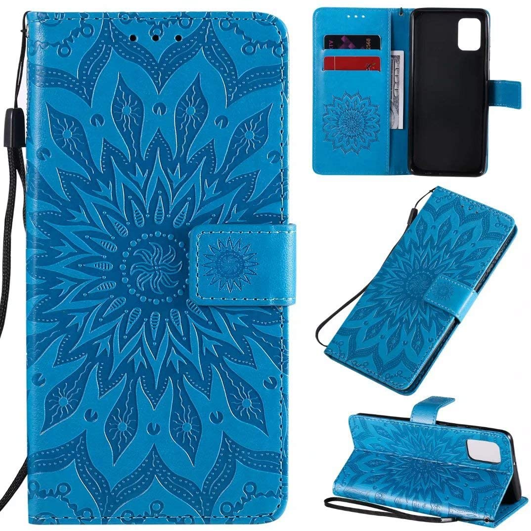 Luckyandery Galaxy A31 Holster Leather, Stand Case Folio Book Flip Cover Built-in Card Holder Fit for Samsung Galaxy A31