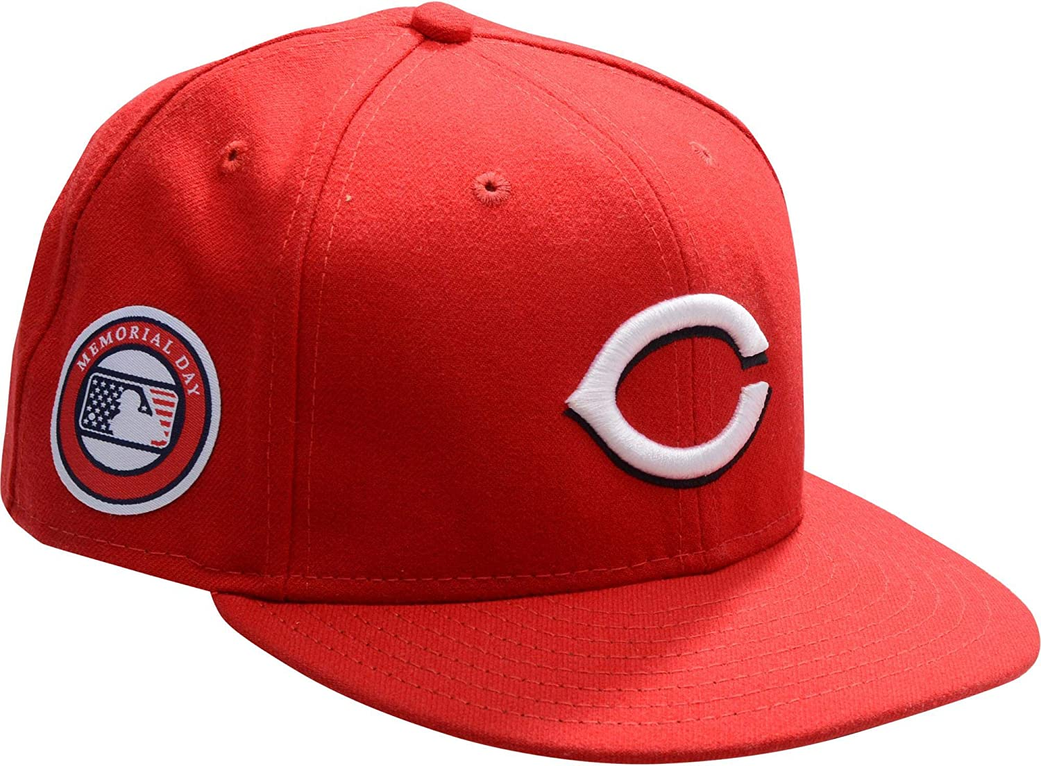 Tucker Barnhart Cincinnati Reds Game-Used #16 Red Cap with Memorial Day Patch vs. Pittsburgh Pirates on May 27, 2019 - Game 2 - Size 7 - DNP - Fanatics Authentic Certified