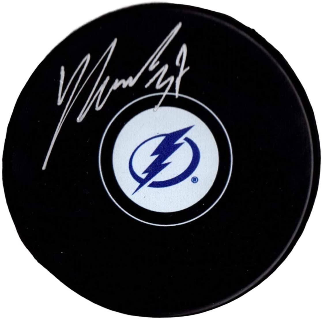 Yanni Gourde autographed signed puck NHL Tampa Bay Lightning PSA COA