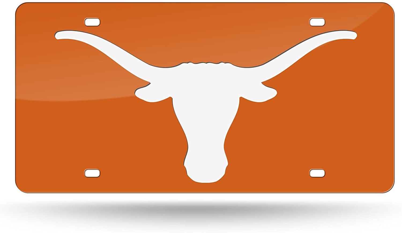 NCAA Rico Industries Laser Inlaid Metal License Plate Tag, Texas Longhorns