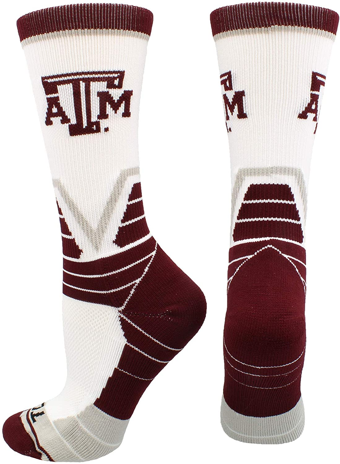 TCK Texas A&M Aggies Socks Victory Crew