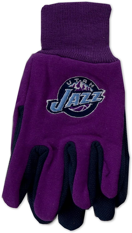 NBA Utah Jazz Two-Tone Gloves, Yellow/Blue