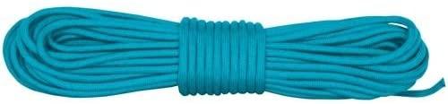 Fox Outdoor 82-161 Nylon Braided Paracord - 50' Hank Neon Turquoise