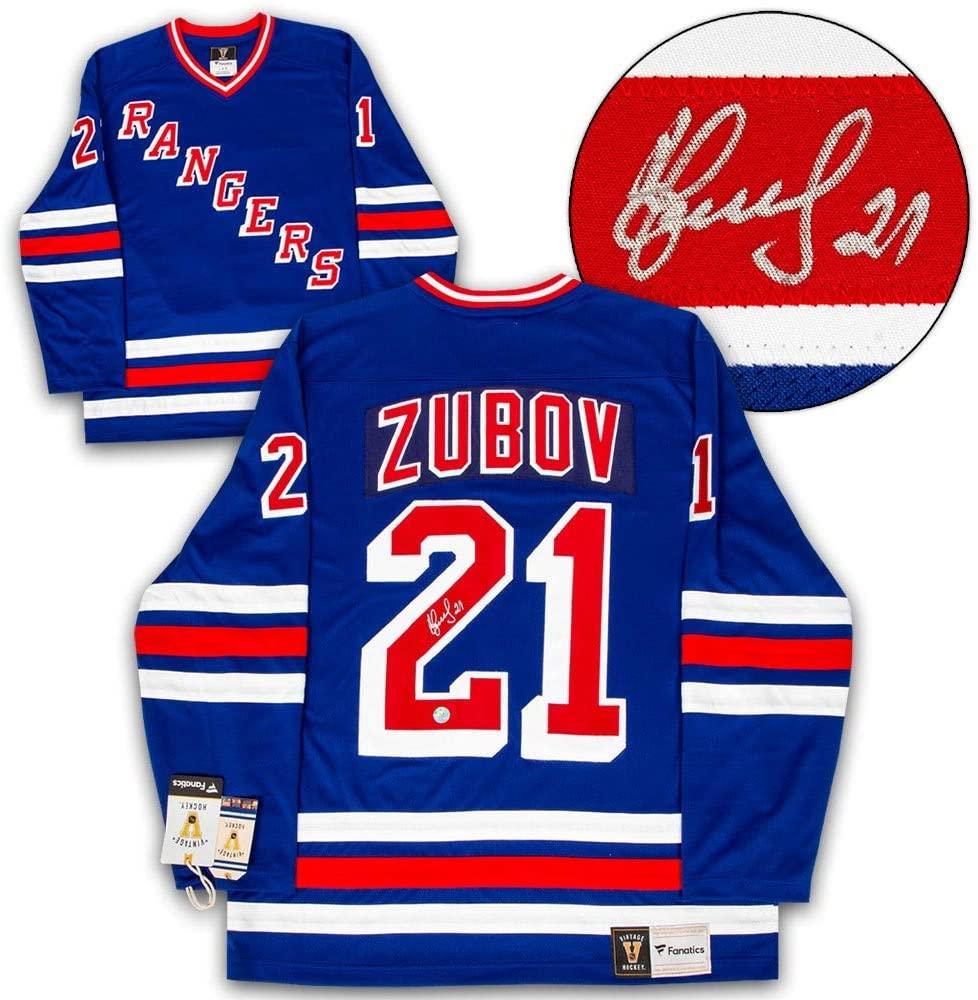 Sergei Zubov New York Rangers Autographed Signed 1994 Stanley Cup Fanatics Vintage Hockey Jersey