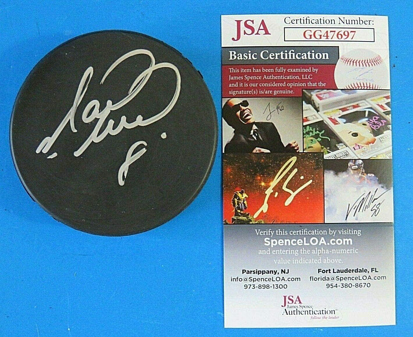 Signed Matthew Barnaby Puck - ~ GG47697 - JSA Certified - Autographed NHL Pucks