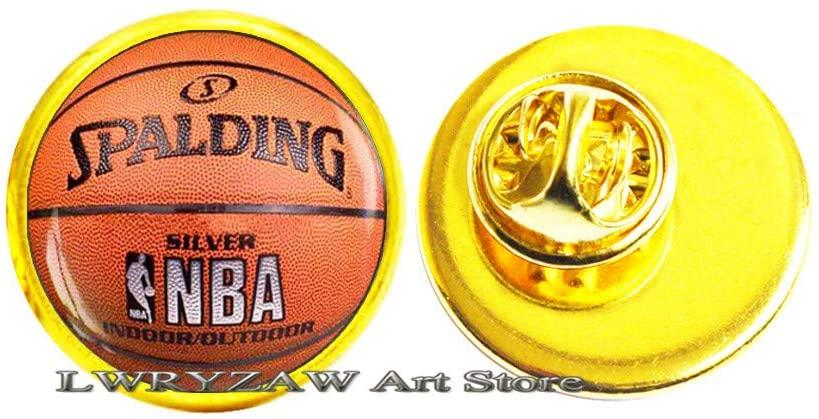 Basketball Brooch, Basketball Jewelry, Basketball Gift, Sport Brooch, Men's Brooch, Basketball Player Gift, Basketball Pin,M41