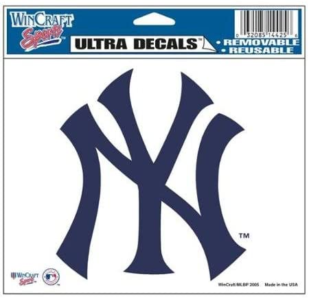 New York Yankees Official Mlb 4.5x6 Car Window Cling Decal