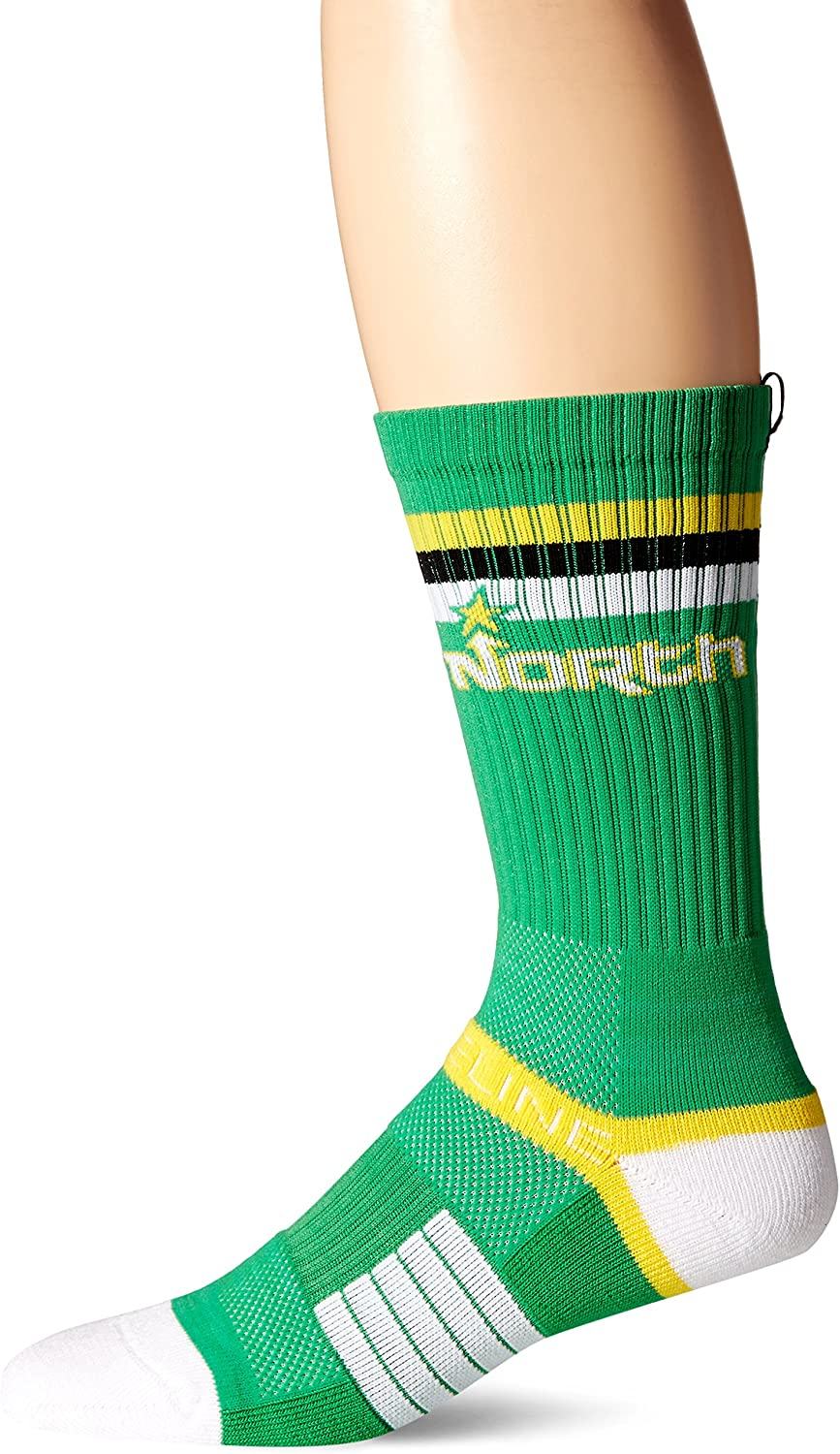 NHL Minnesota Wild Adult Retro North Strapped Fit 2.0 City Line Socks, One Size, Green